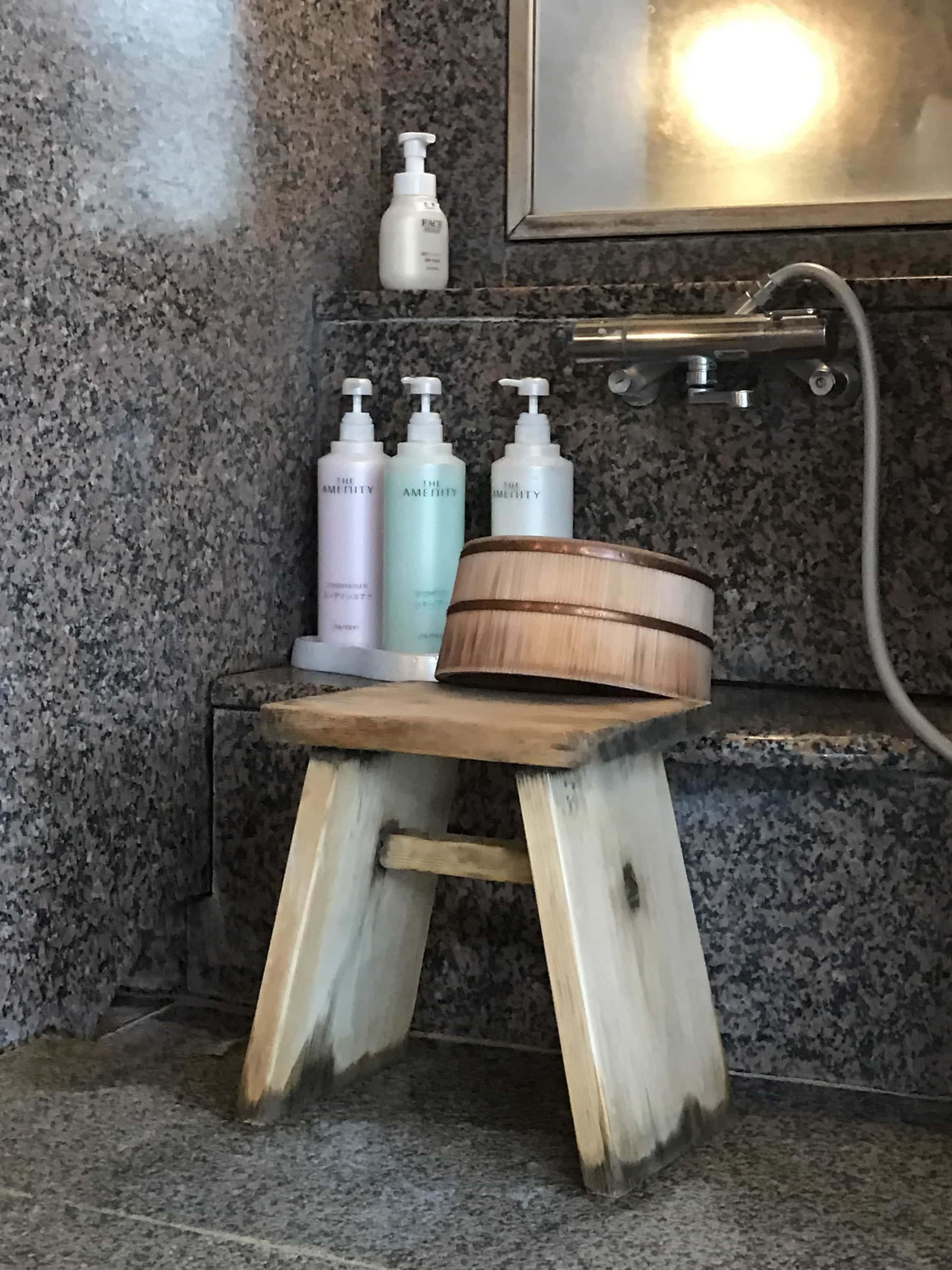 Waschplatz im Onsen