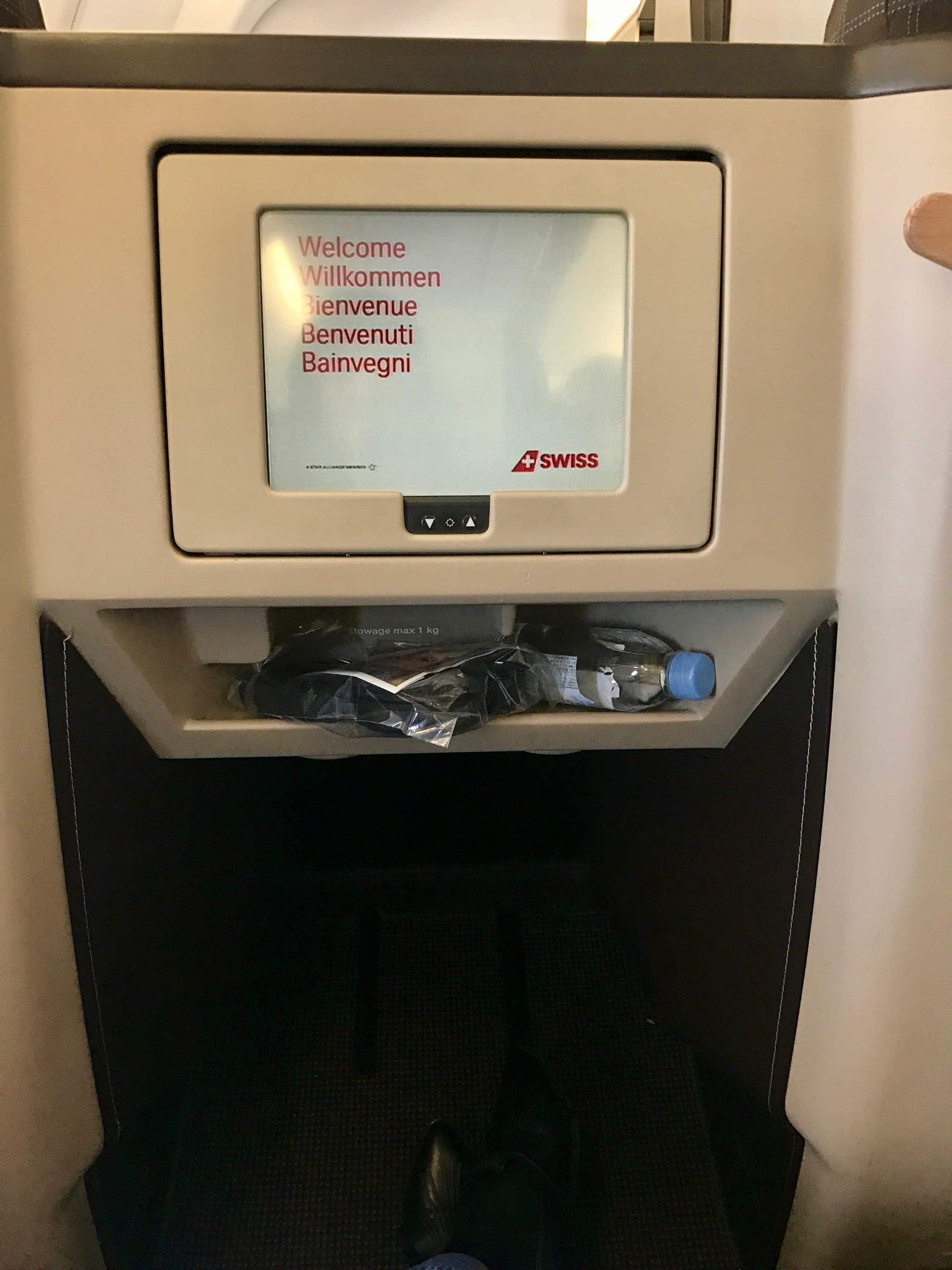 Bildschirm SWISS Business Class Airbus A340