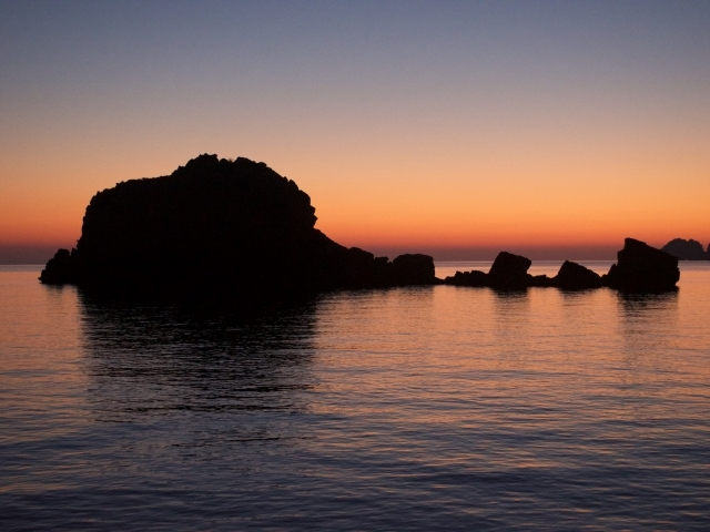 Sonnenaufgang an der Steilküste von Musandam Oman