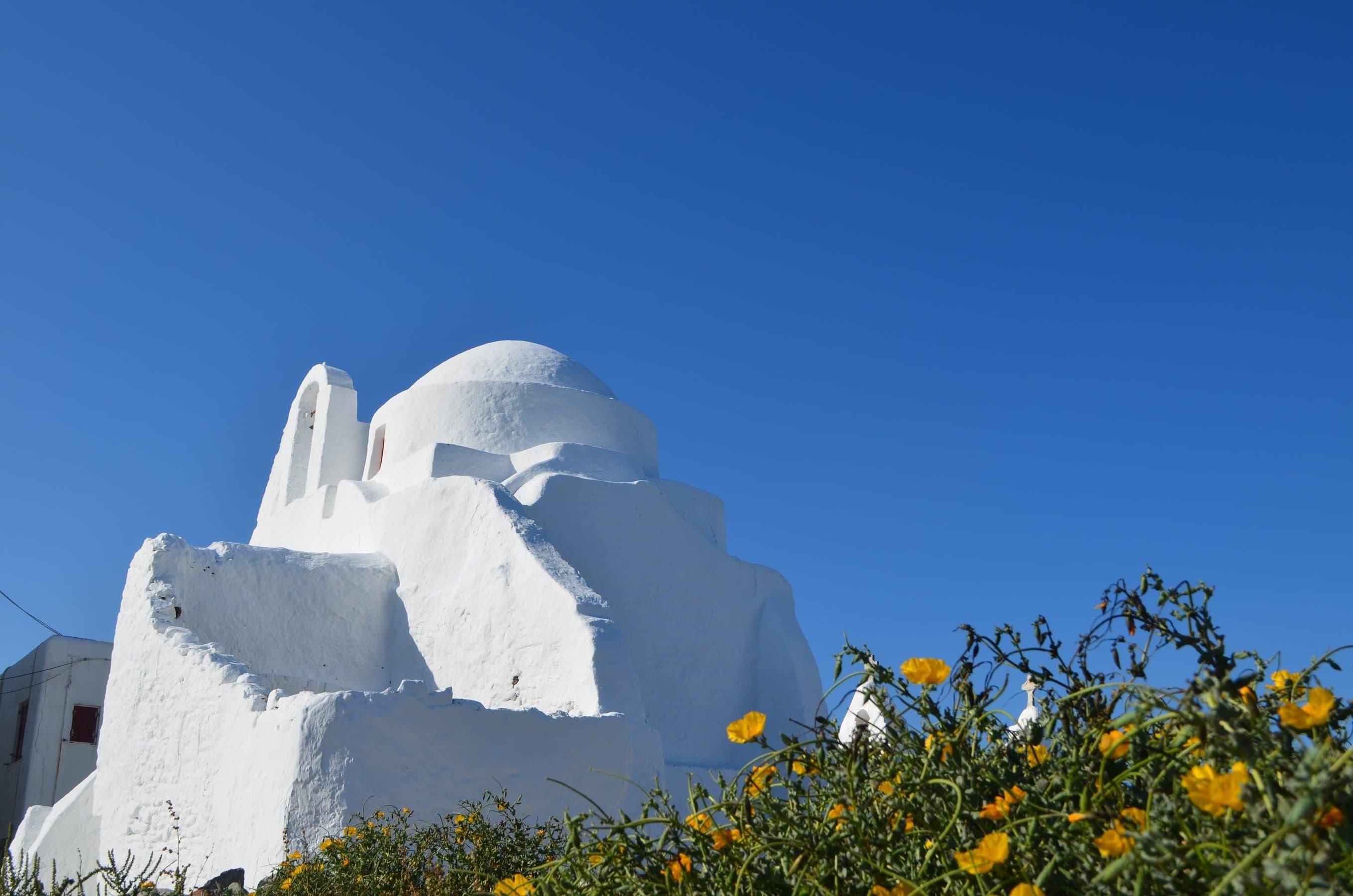 Mykonos Kirche in Castro