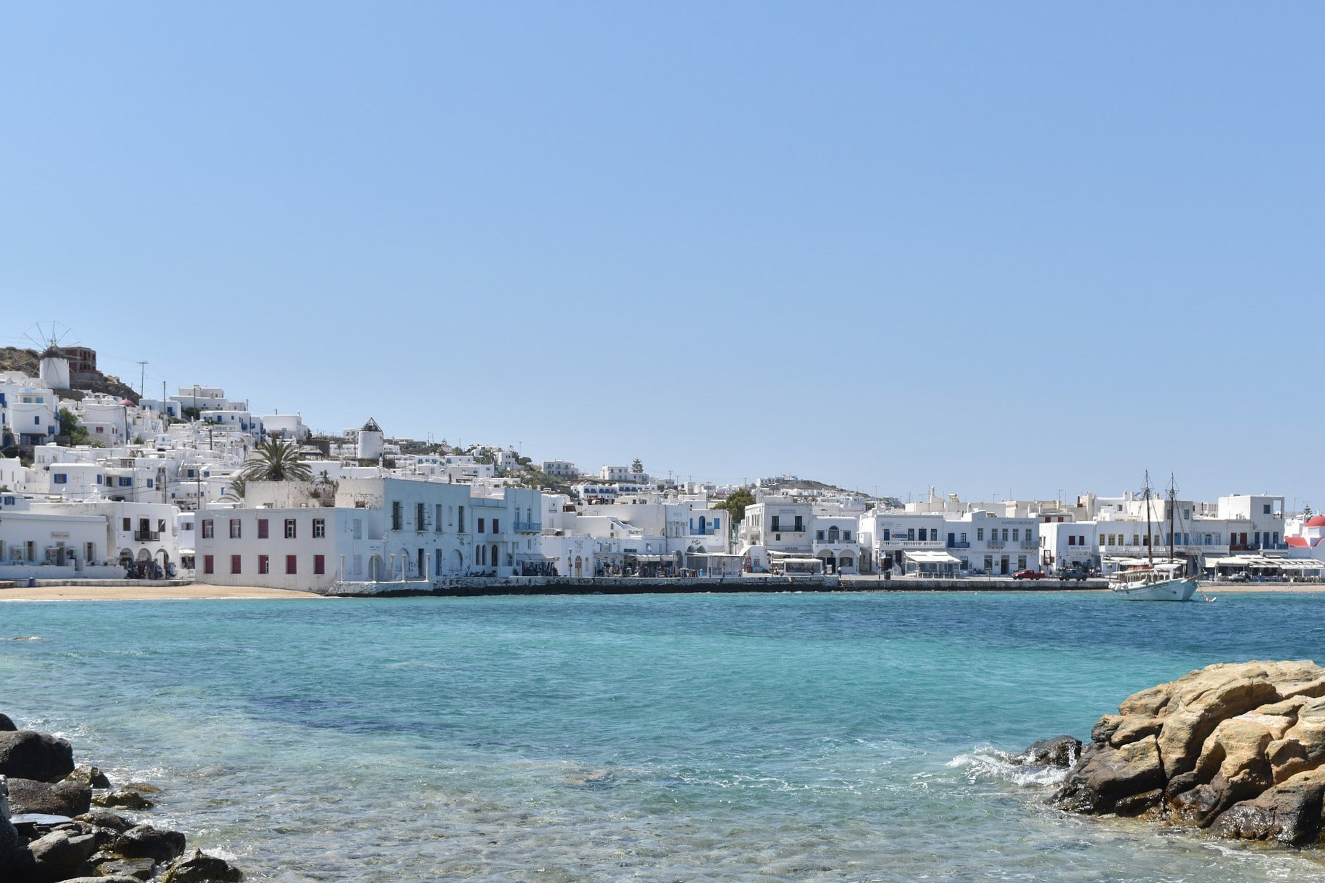 alter Hafen in Mykonos