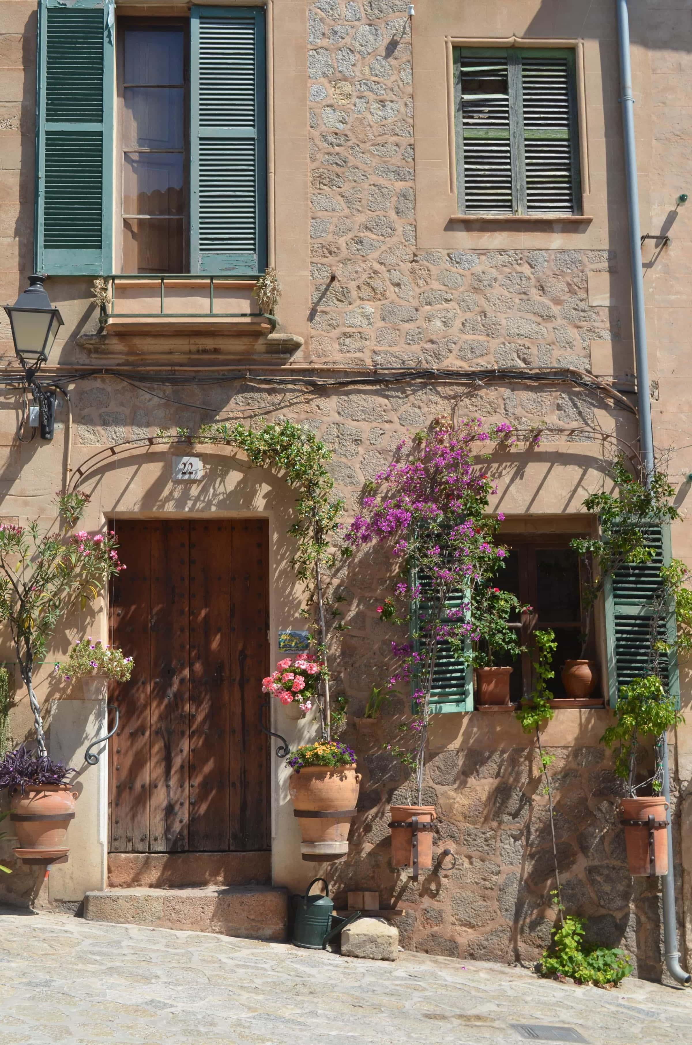 dokorierte Häuser in Valldemossa