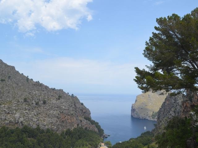 Ausblick auf die Bucht von Sa Calobra
