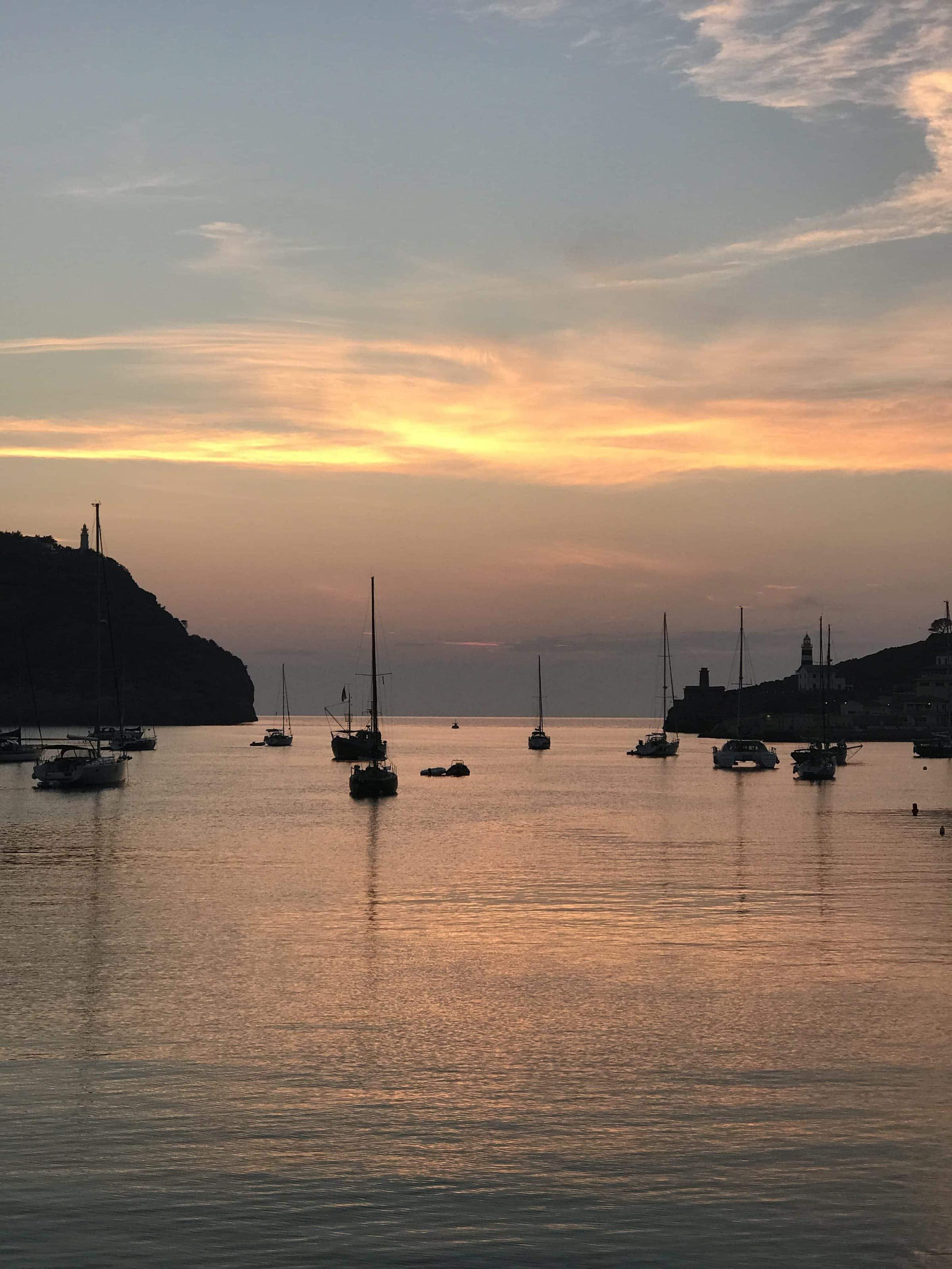 Sonnenuntergang in Port Sóller Mallorca