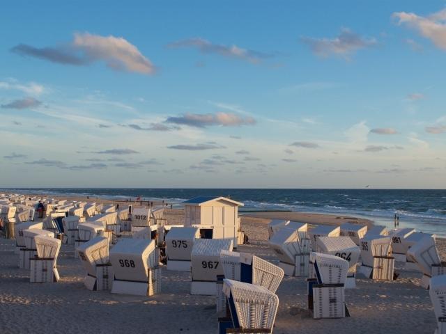Abendstimmung am Strand von Westerland Sylt