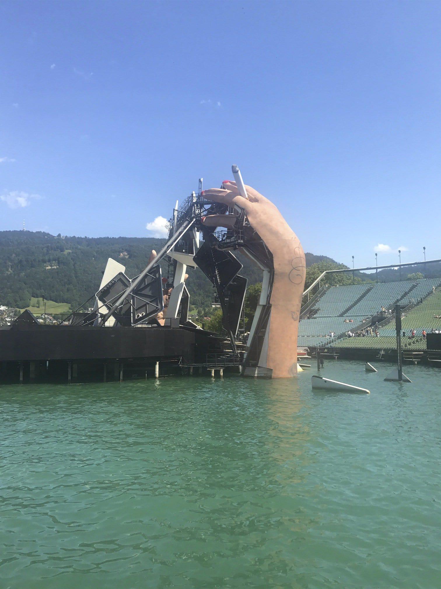 Blick hinter die Kulissen der Seebühne Bregenz
