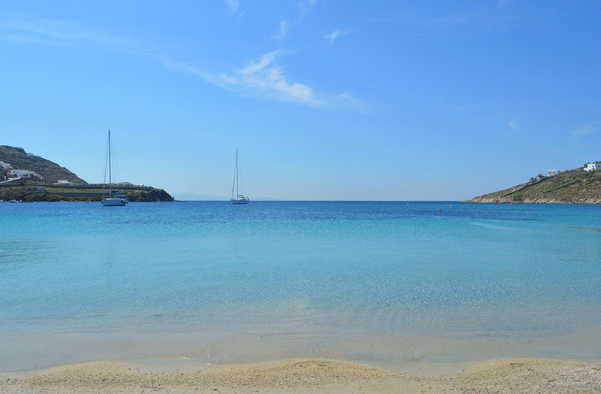 Bucht auf Mykonos