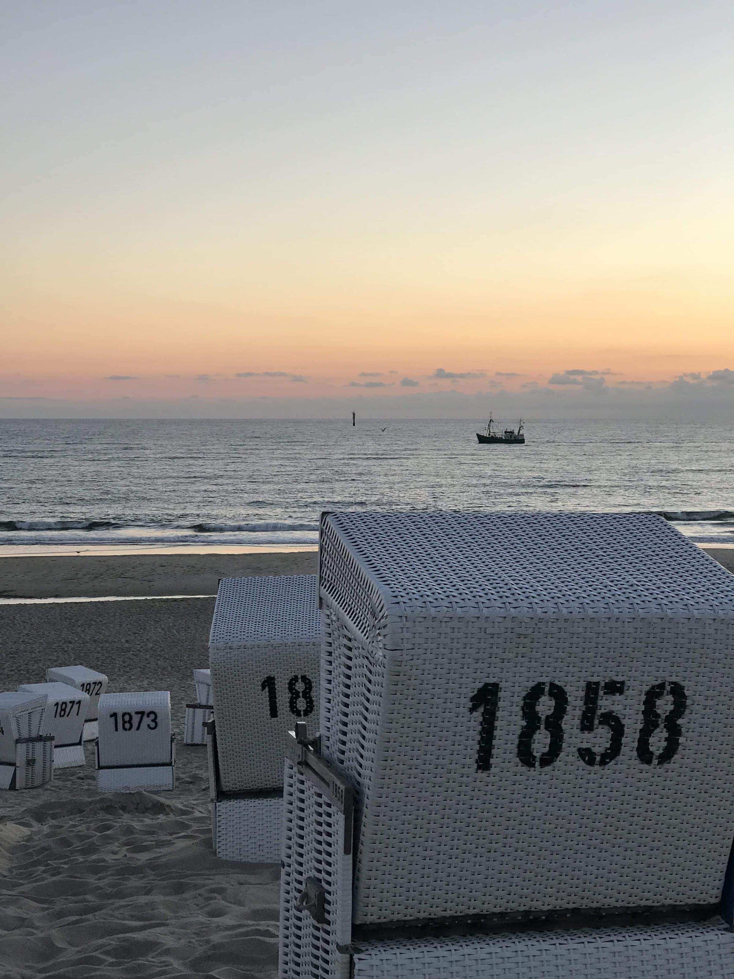 letzte Sonnenstrahlen in Westerland Sylt