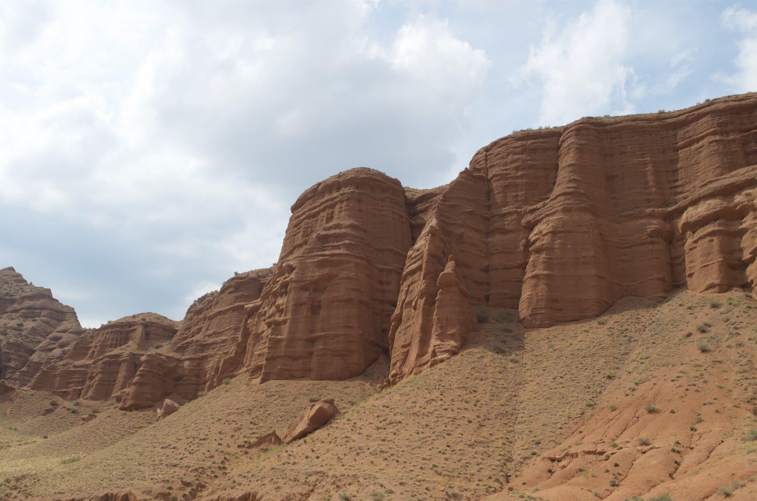 Sandstein in Schlucht von Komorchek Kirgisistan