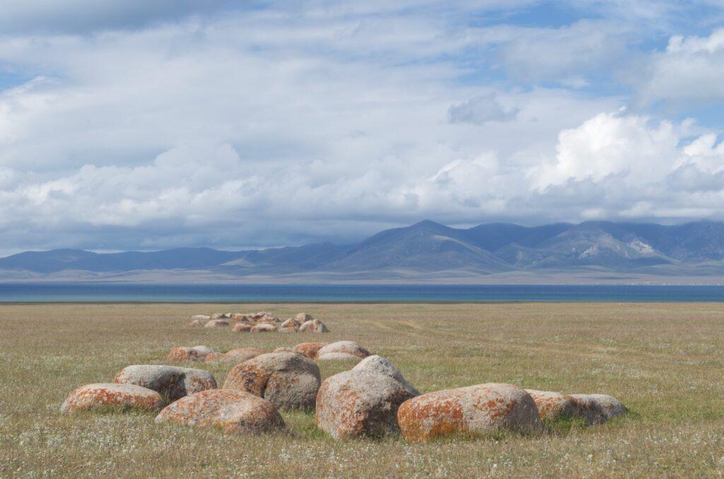 Kirgisistan Steinkreise am Songköl