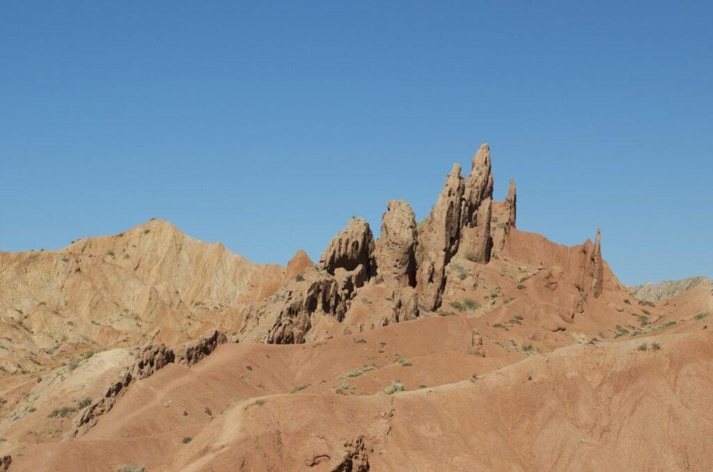 Skazka-Canyon oder Fairy Tail Canyon Kirgisistan