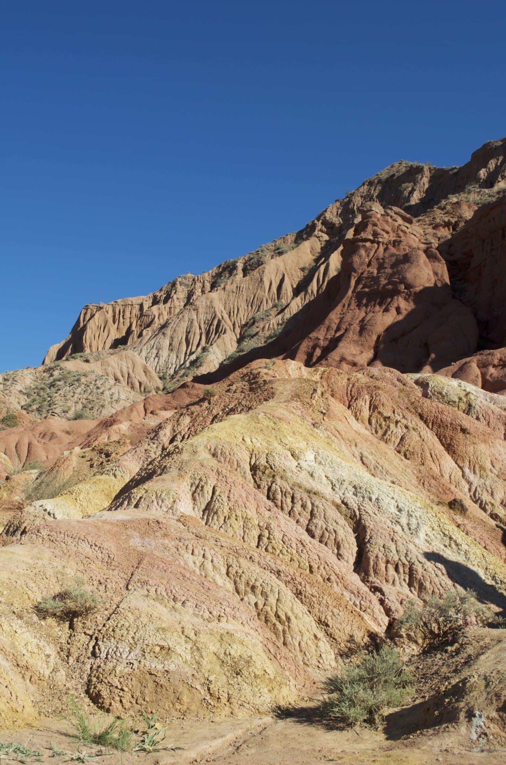Skazka-Canyon Kirgisistan bunter Sandstein