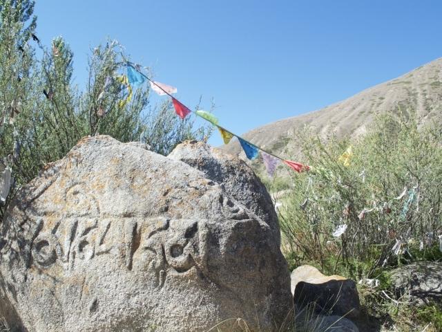 Tamga-Tash in der Tamga Schlucht Kirgisistan