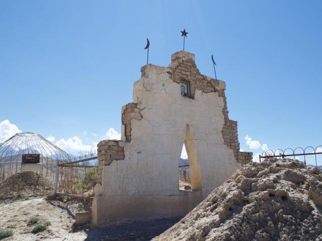 muslimischer Friedhof in der Tamga Schlucht Kirgisistan