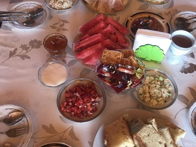 gedeckter Tisch Homestay Komorchek