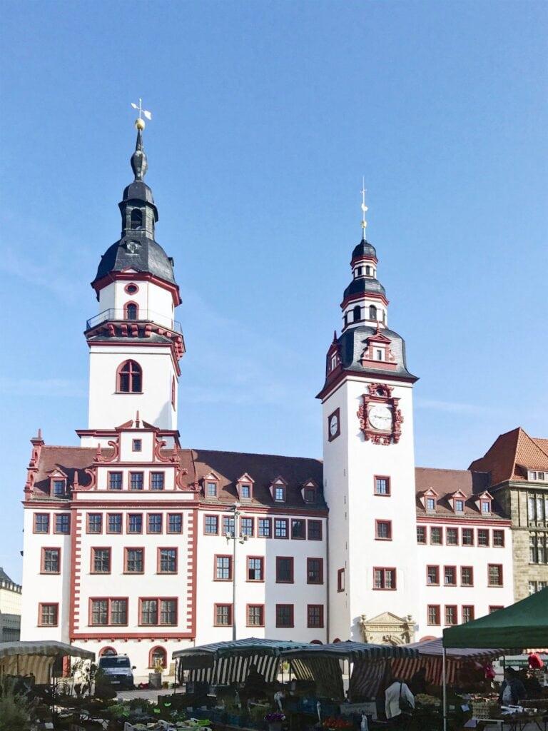 Markt vor dem Alten Rathaus in Chemnitz