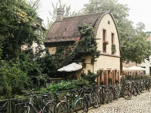 Gewerbekanal und Oelmühle in Freiburg
