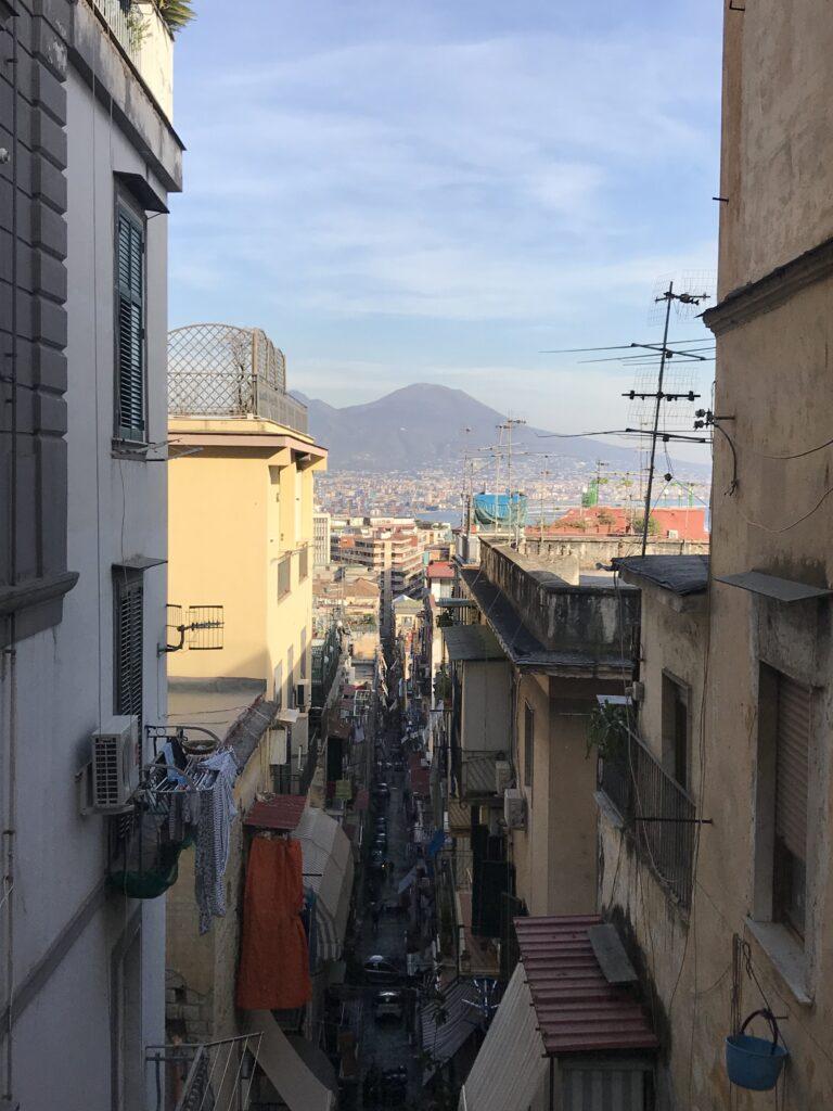 Blick über die Altstadt zum Golf