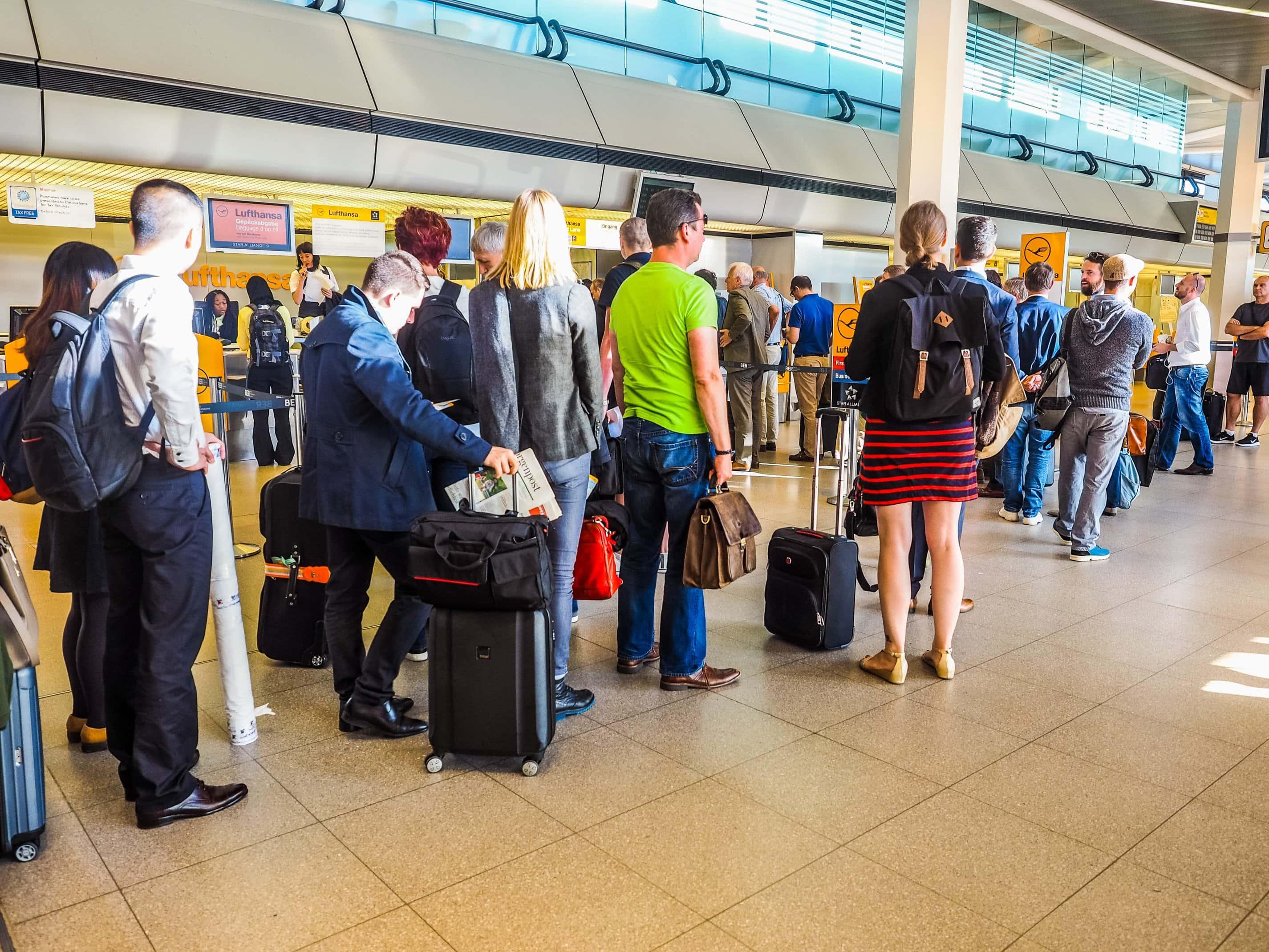 Check-in am Flughafen TXL
