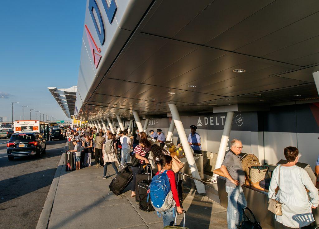 Check-in am Flughafen JFK