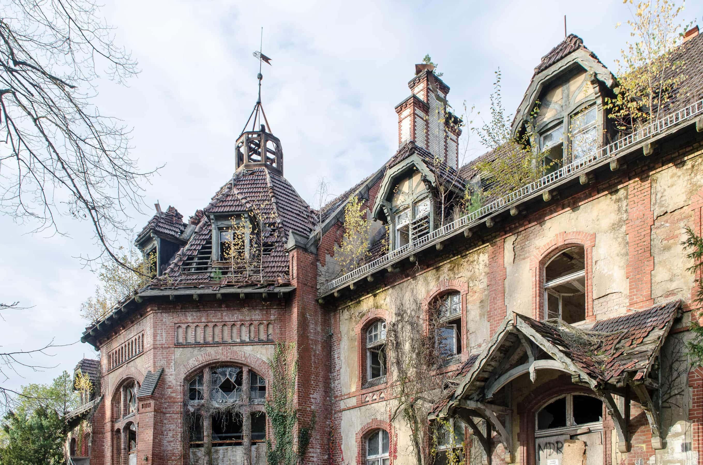 verfallene Gebäude der Beelitz-Heilstätten