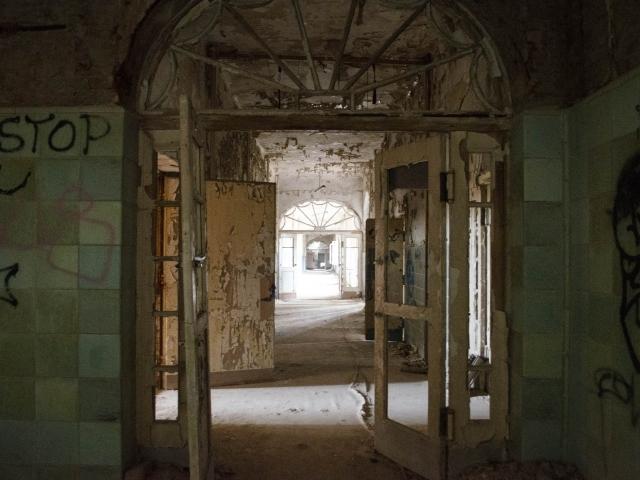 Zeichen des Verfalls in den Beelitz-Heilstätten