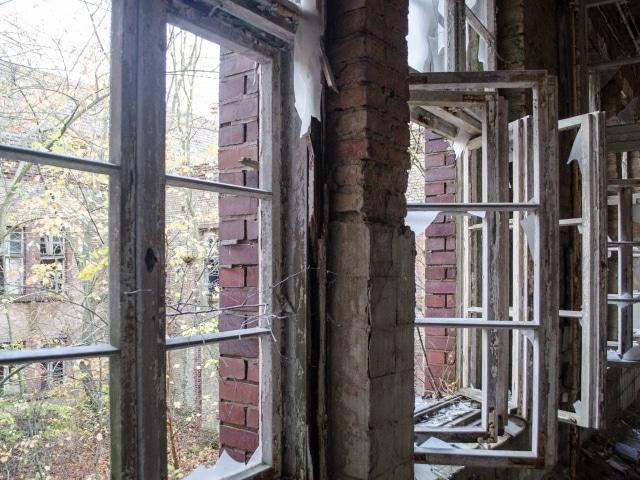 Innenhof der Alten Chirurgie der Beelitz-Heilstätten