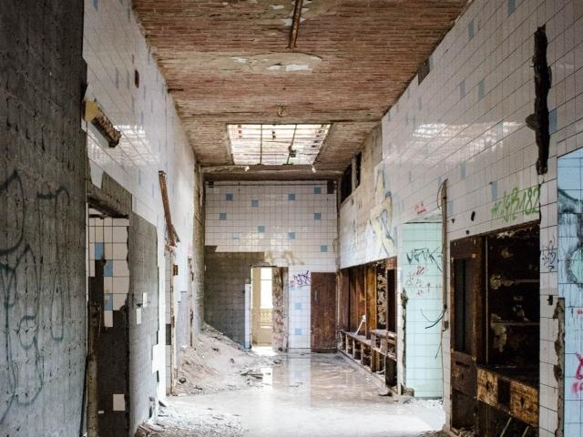 Trakt mit Operationssälen in den Beelitz-Heilstätten