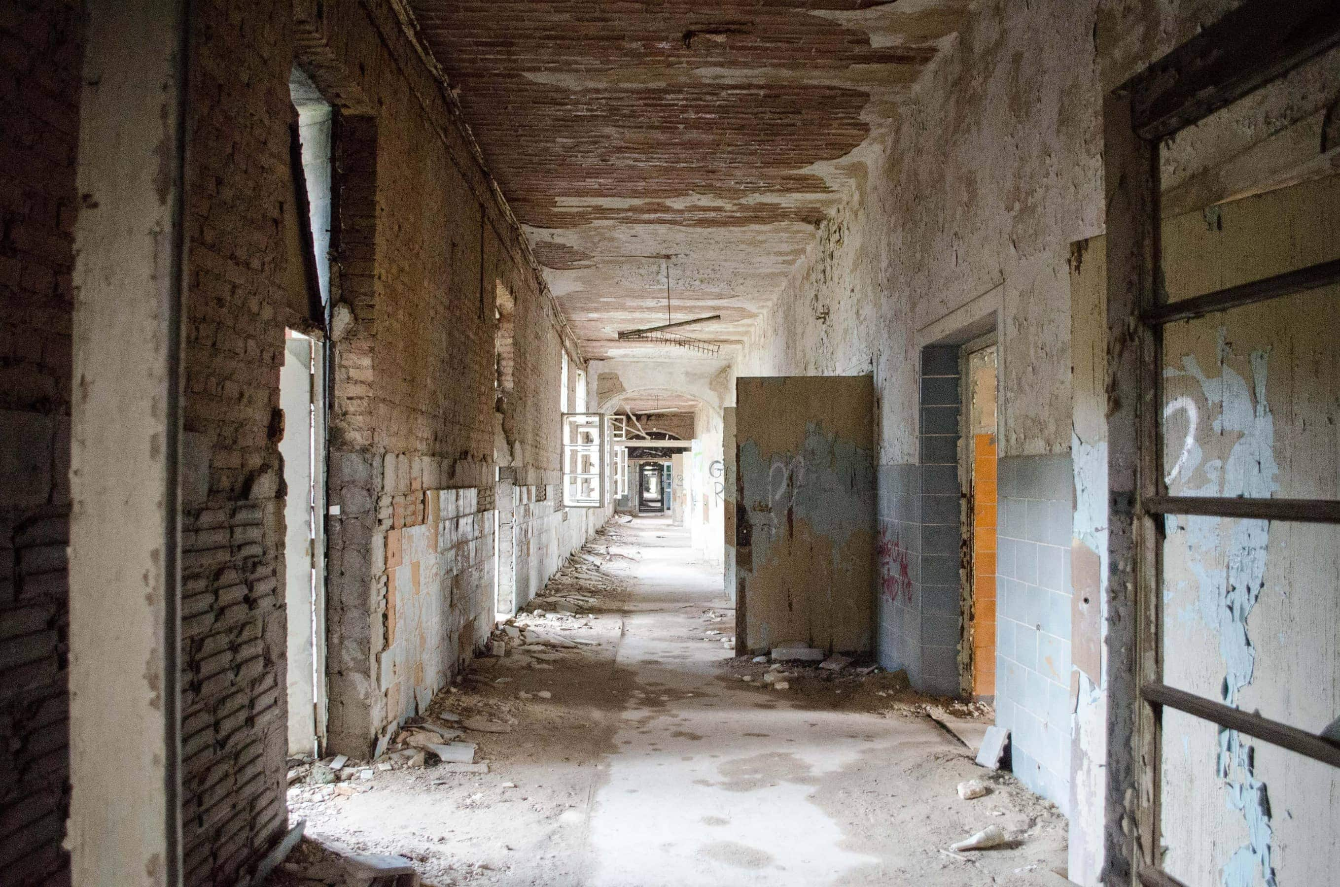 Bettentrakt in den Beelitz-Heilsätten
