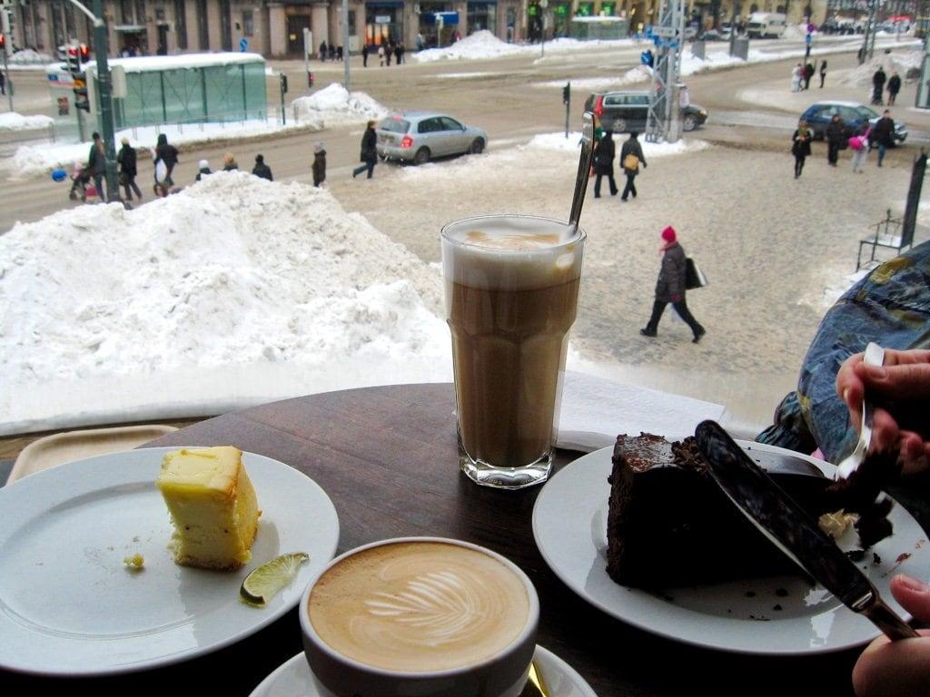 Kaffee und Kuchen zum Aufwärmen