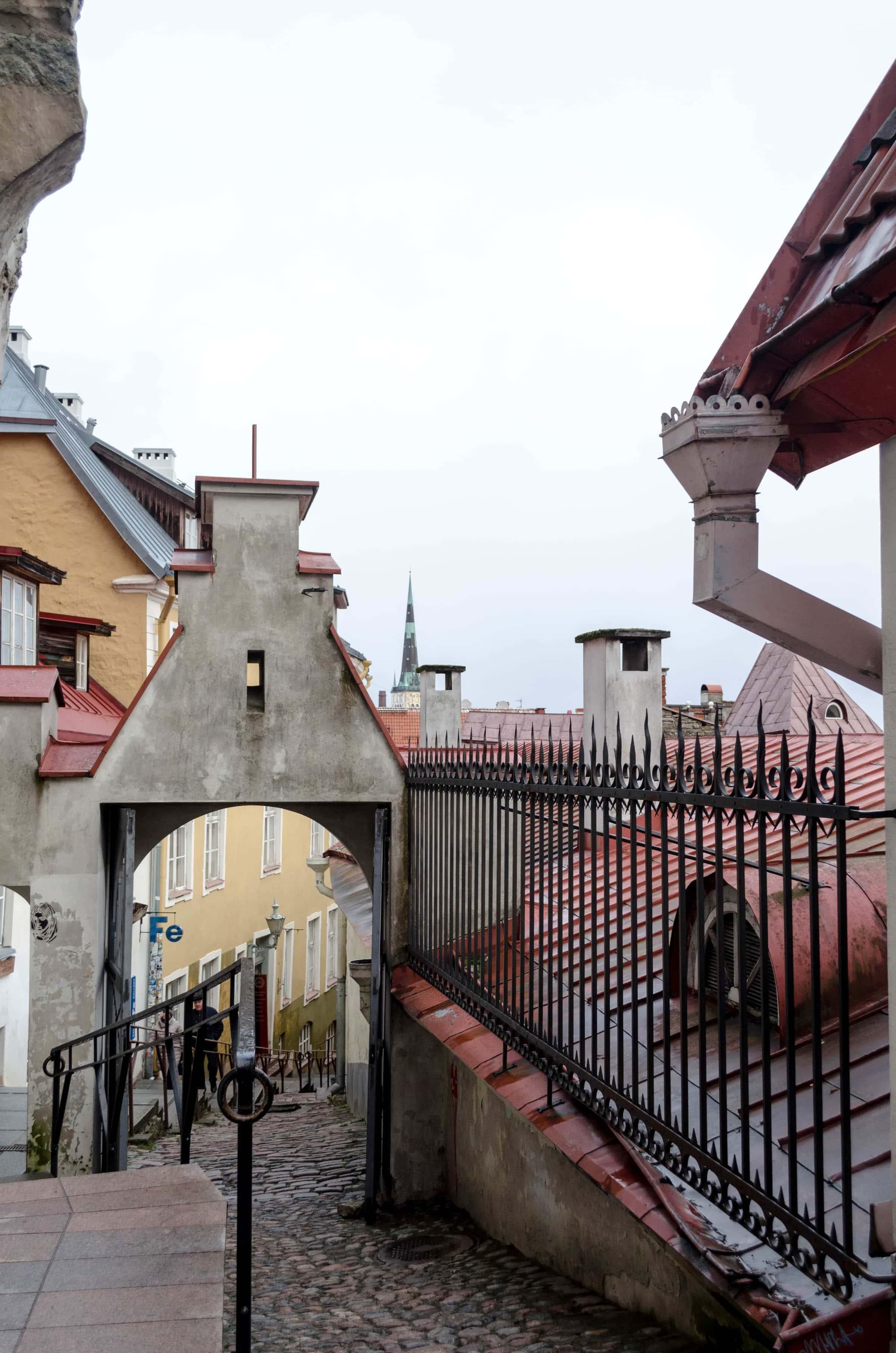 vom Domberg in die Unterstadt in Tallinn