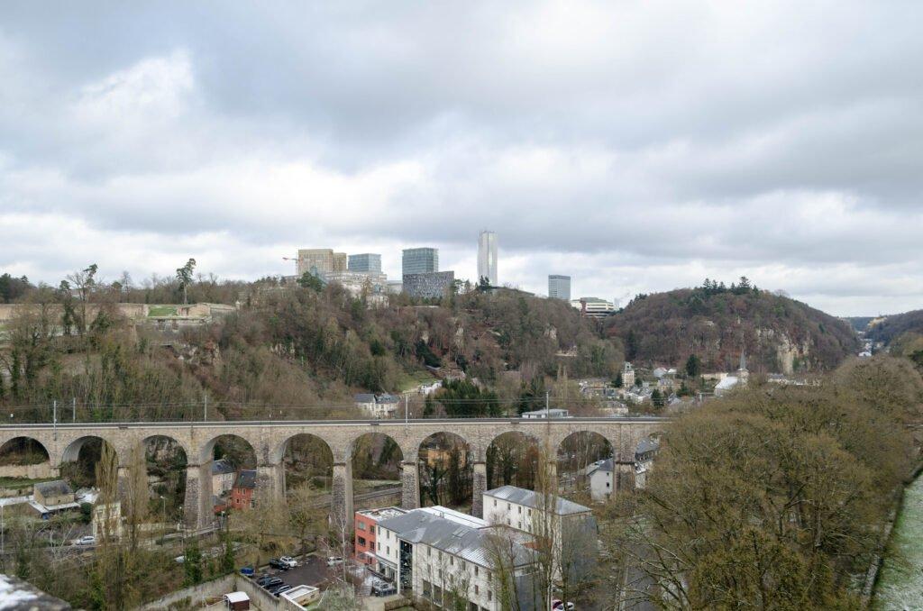 Luxemburg Blick auf das Europaviertel