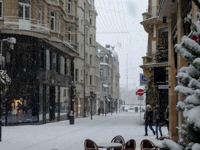 Luxemburg bei Schneefall