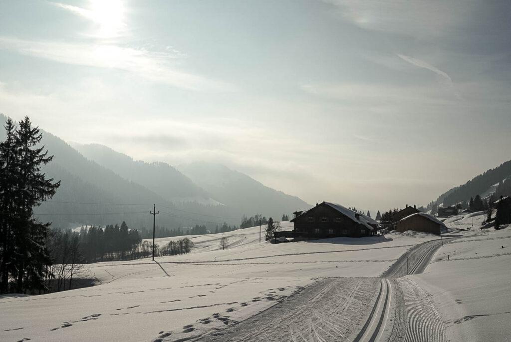 Loipe beim Wellvitalhotel Bergblick
