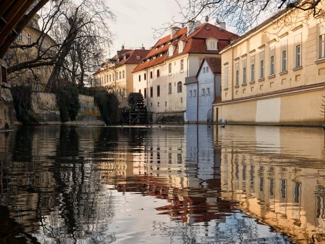 Fotospots in Prag: Čertovka-Kanal beim Kampa Park