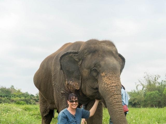 Spaziergang mit den Elefanten im Lanna Kingdom Elefant Sanctuary