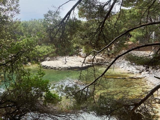 Salzsee auf der Insel Lokrum