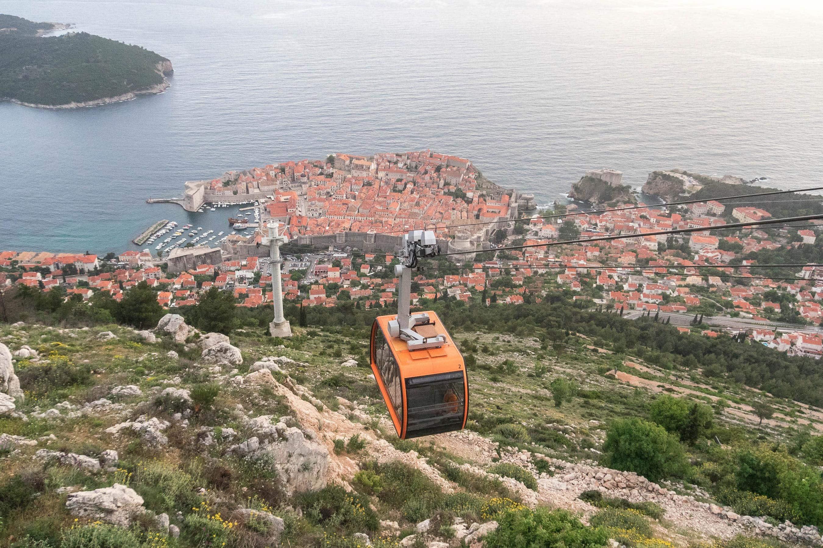 Seilbahn auf den Srd bei Dubrovnik
