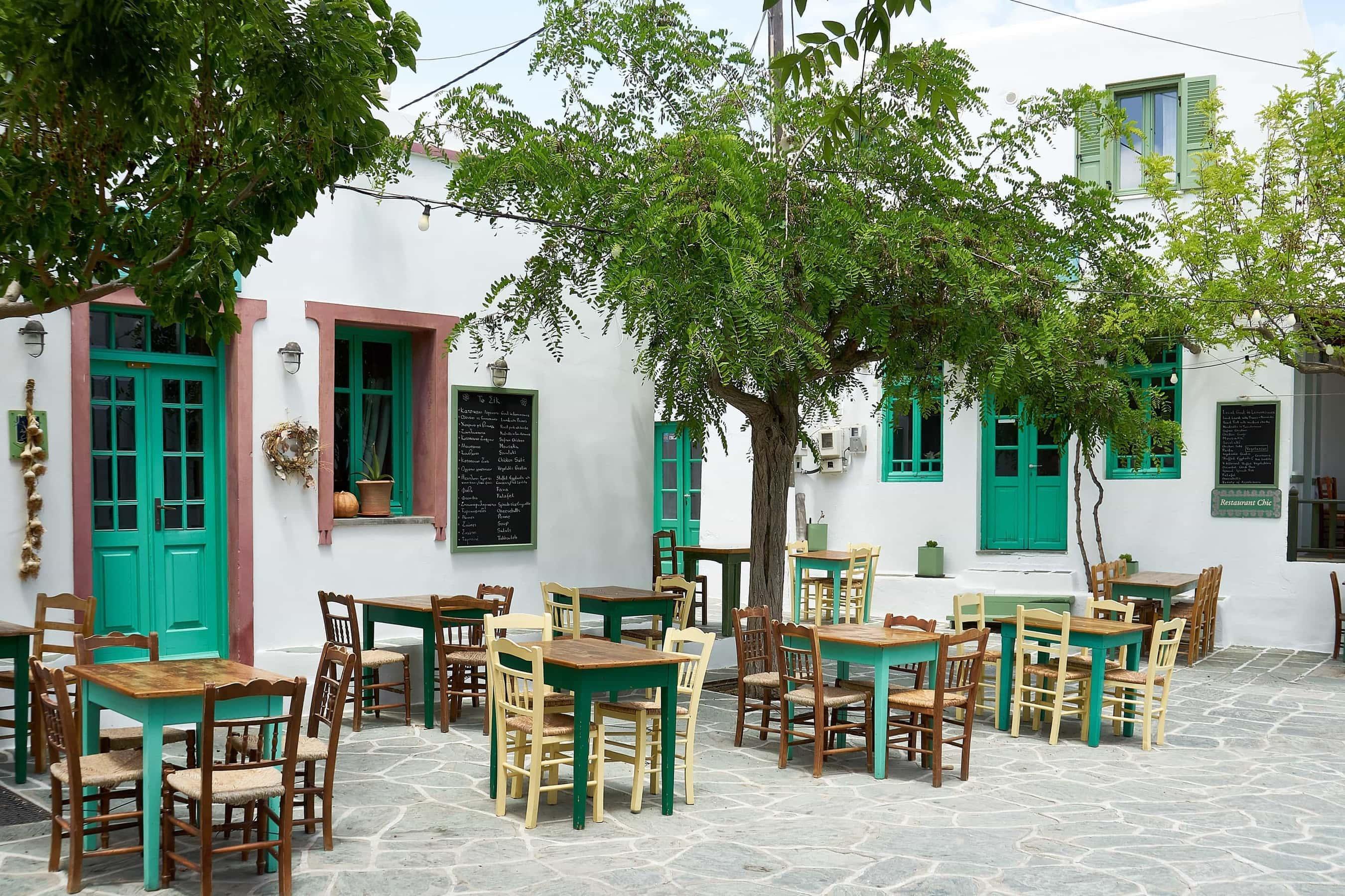 Taverne in der Chora Folegandros