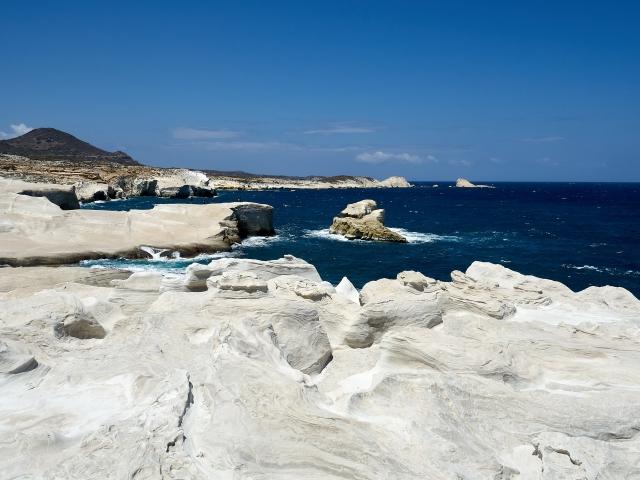 weißer Strand von Sarakiniko