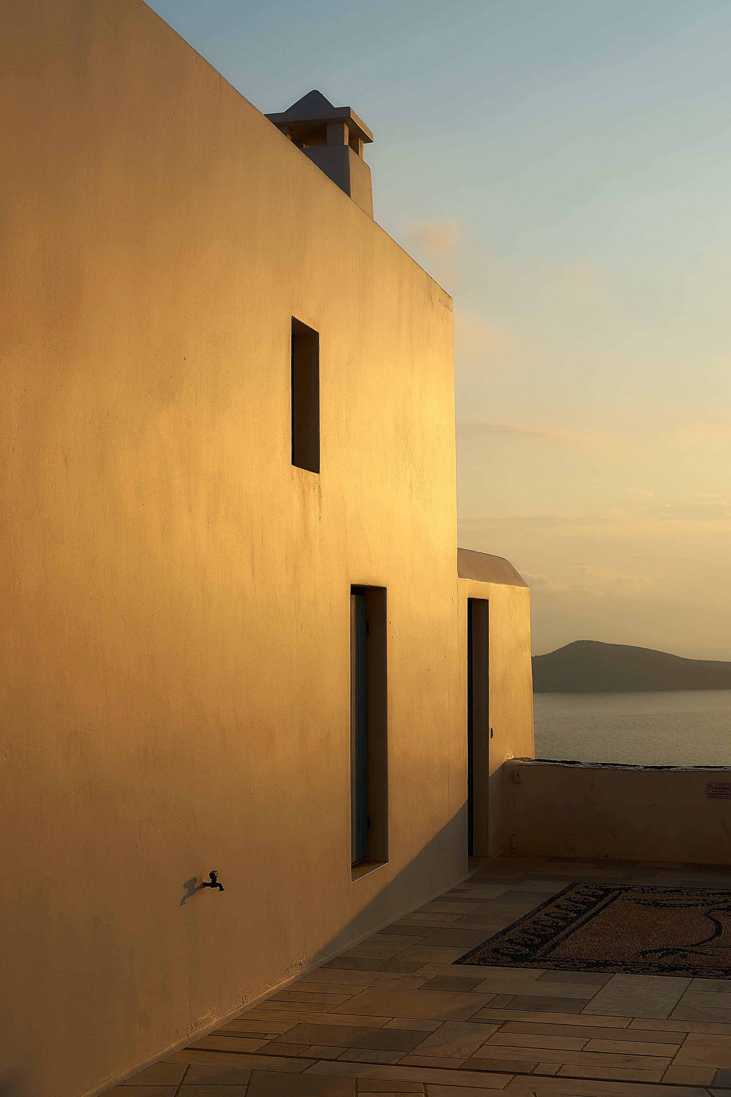 Panagia Korphiatissa bei Sonnenuntergang