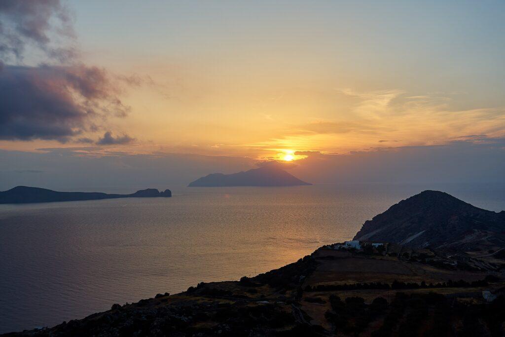 Sonnenuntergang auf Milos