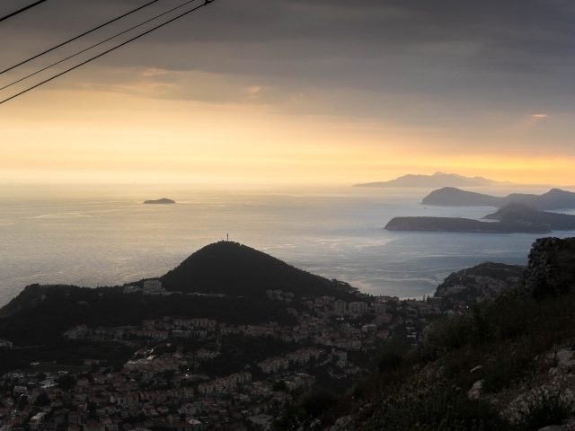Sonnuntergang bei Dubrovnik