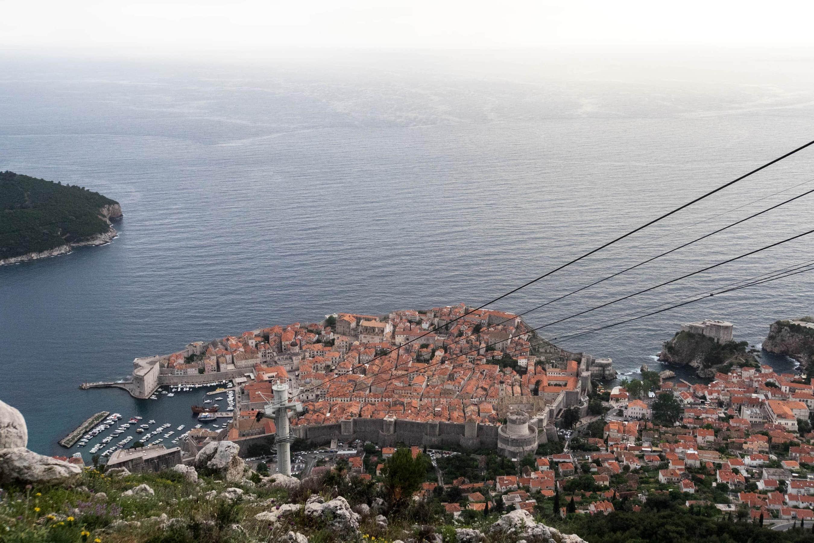 Blick auf die Altstadt von Dubrovnik vom Srd