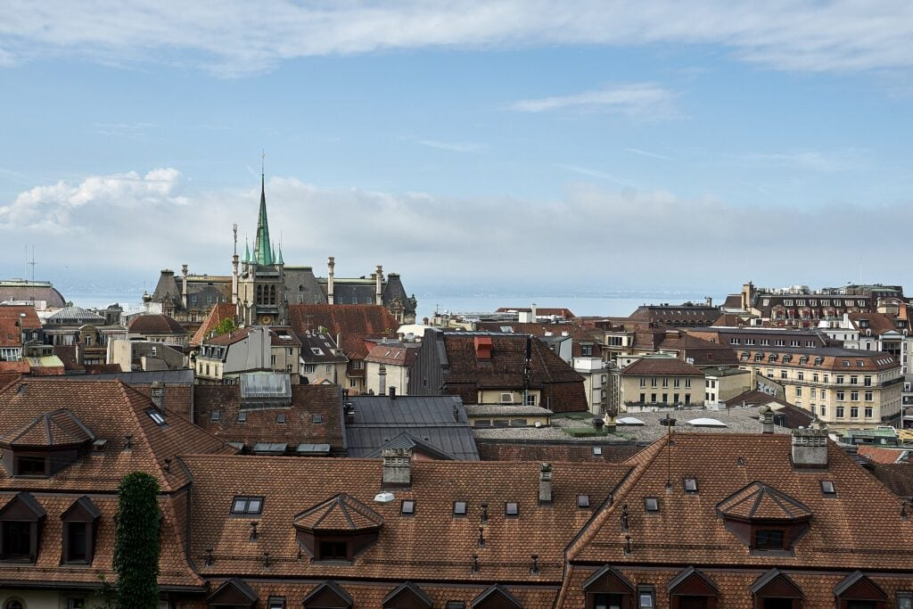 Blick über Lausanne
