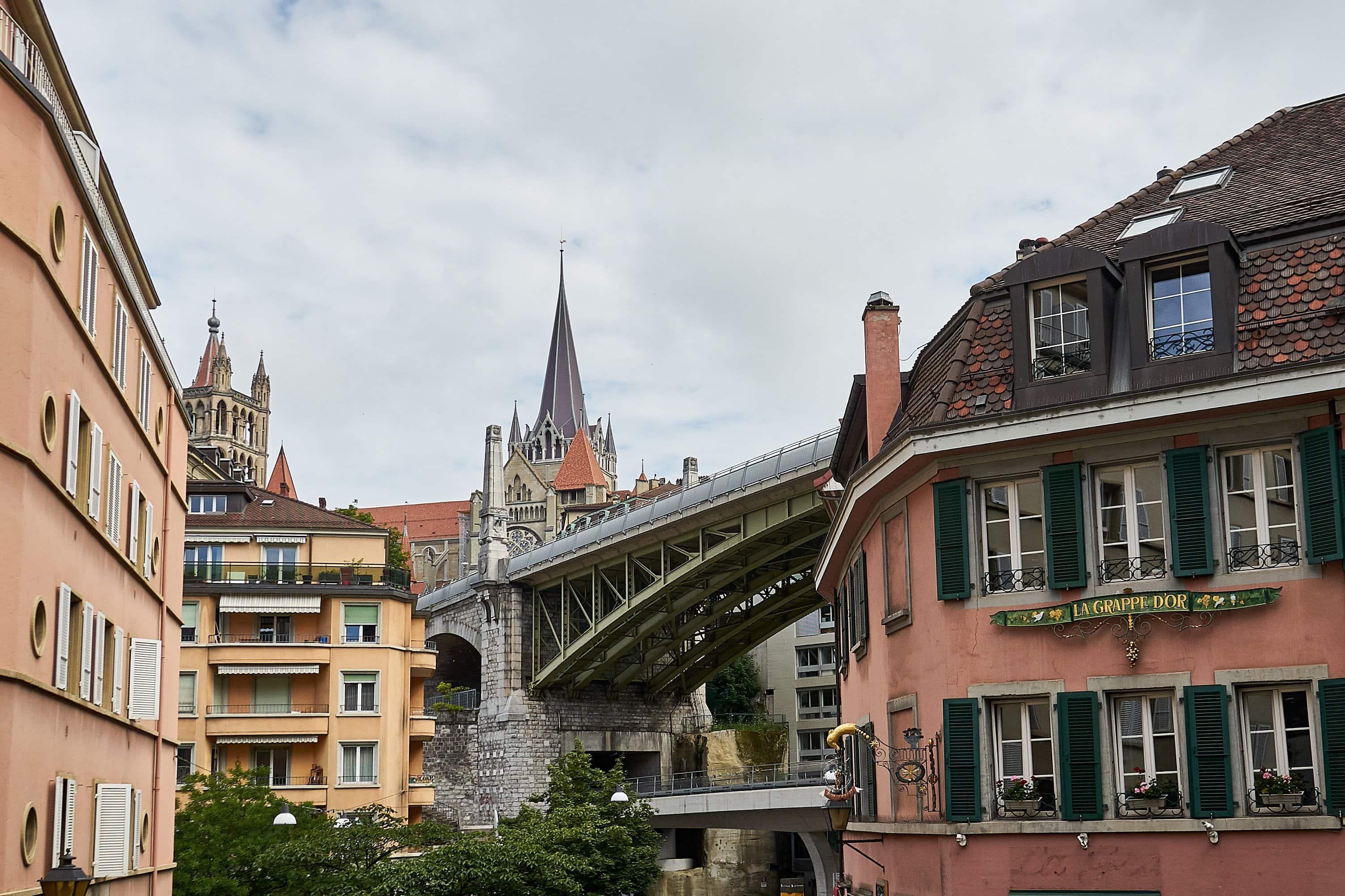 Blick auf die Kathedrale von Lausanne