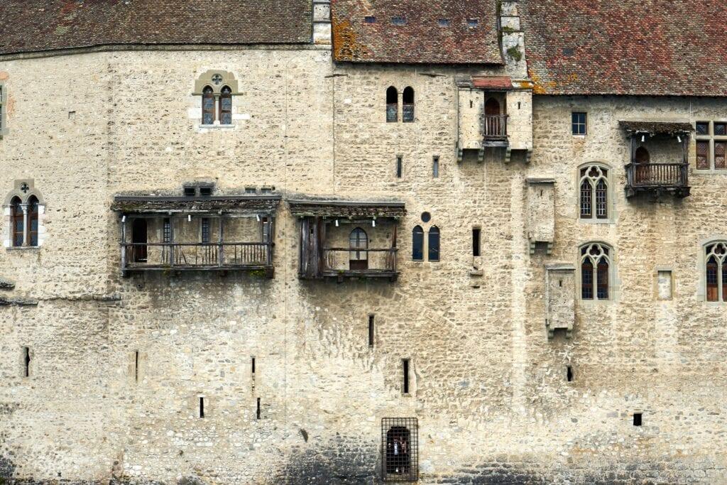 Außenmauer des Schlosses Chillon