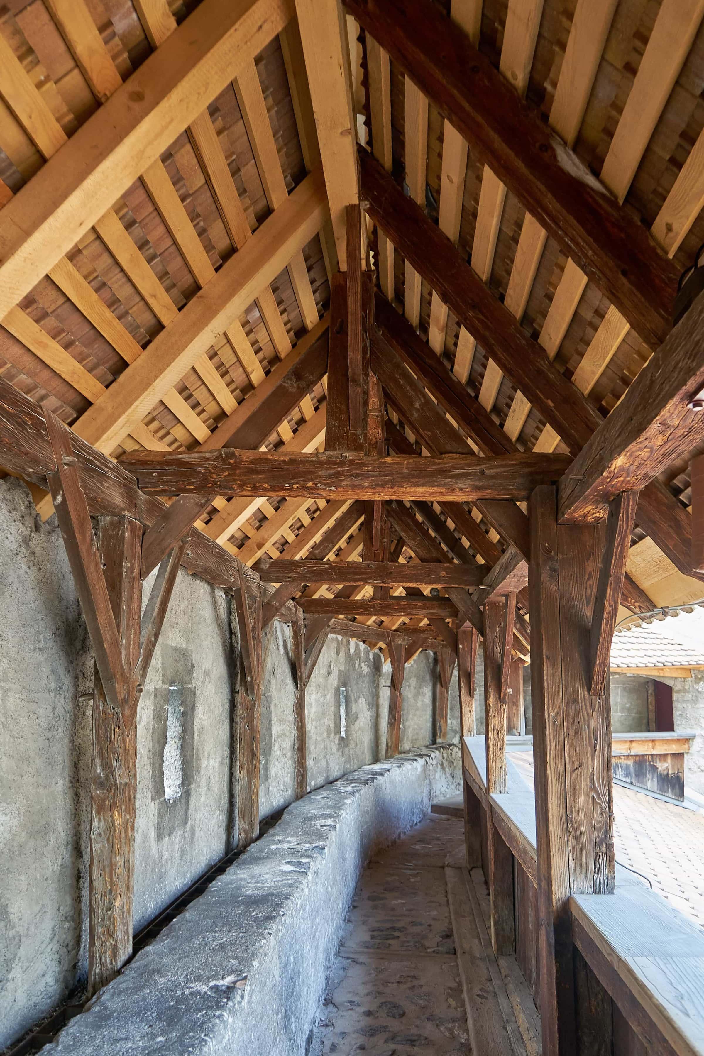 Wehrgang des Schlosses Chillon