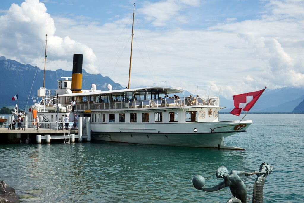 Dampfschiff Italie am Genfersee bei Vevey