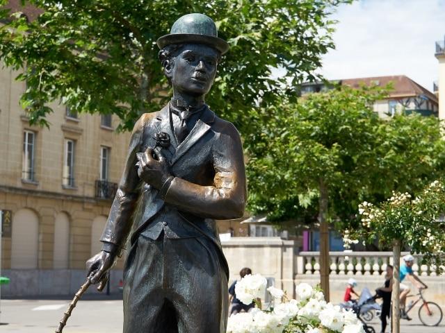 Charlie Chaplin Denkmal in Vevey